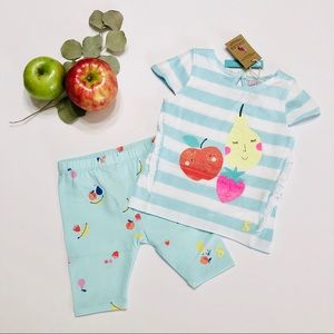 🆕 JOULES 2-Piece Fruit Medley Outfit • 6-9 Months